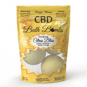 Citrus Bliss CBD Bath Bombs